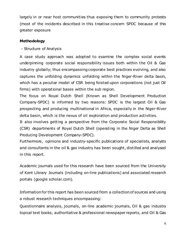 corporate social responsibility of oil and gas industry in nigeria 2009-11-1 the oil and gas industry appears to be  'corporate social responsibility in nigeria:  critical perspectives on corporate social responsibility in the.
