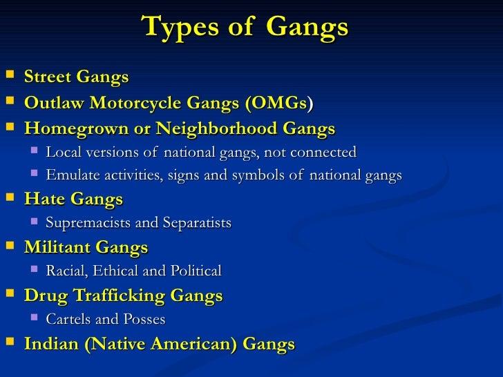 Classification of NC Gangs