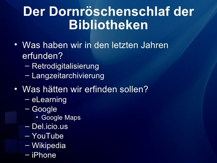Fit für die digitale Bibliothek? (2007)