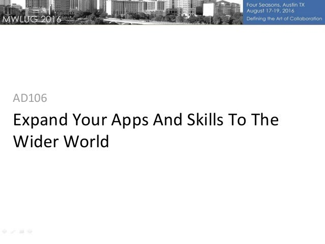 Expand Your Apps And Skills To The Wider World AD106
