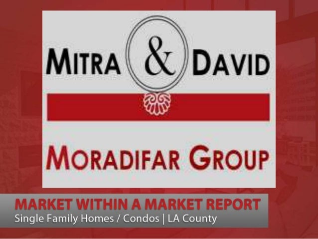 WHAT IS A MARKET WITHIN A MARKET?Just as the weather is different from Los Feliz to Santa Monica so is the Real Estate cli...