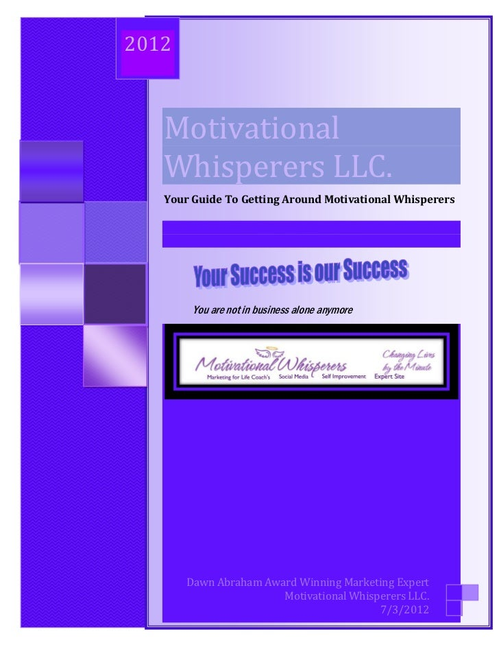 Your Guide to Getting Around Motivational Whisperer's                2012                           Motivational          ...