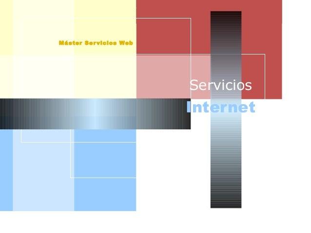 AISI Máster Servicios Web Internet Servicios