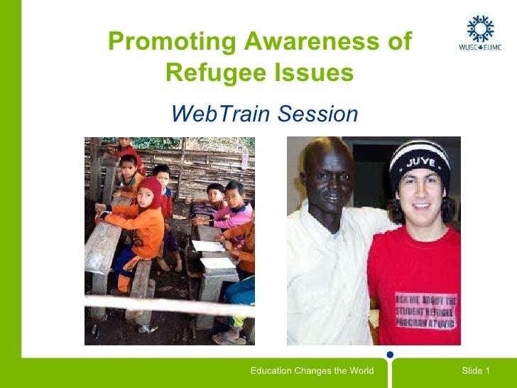 Promoting Awareness of Refugee Issues WebTrain Session