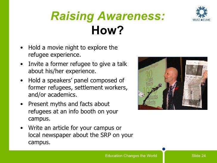 Raising Awareness about Refugees Raising Awareness