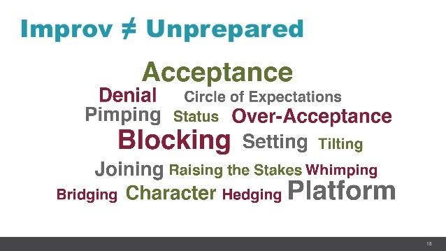 18 Improv ≠ Unprepared