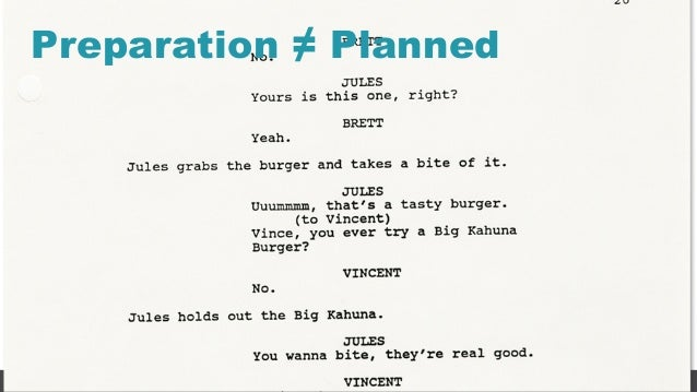 19 Preparation ≠ Planned