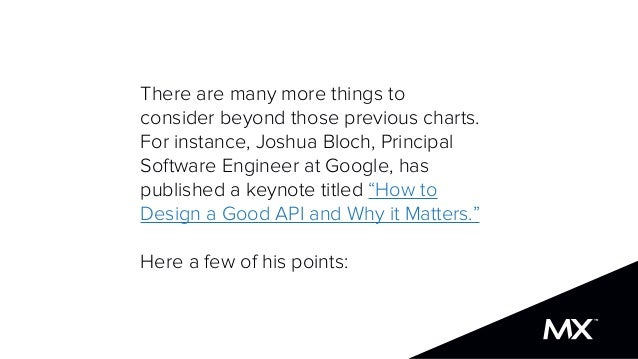 There are many more things to consider beyond those previous charts. For instance, Joshua Bloch, Principal Software Engine...
