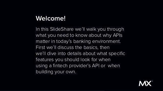 The API SlideShare for Bankers and Fintech Executives Slide 2