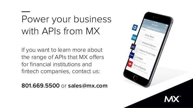 Power your business with APIs from MX If you want to learn more about the range of APIs that MX offers for financial instit...