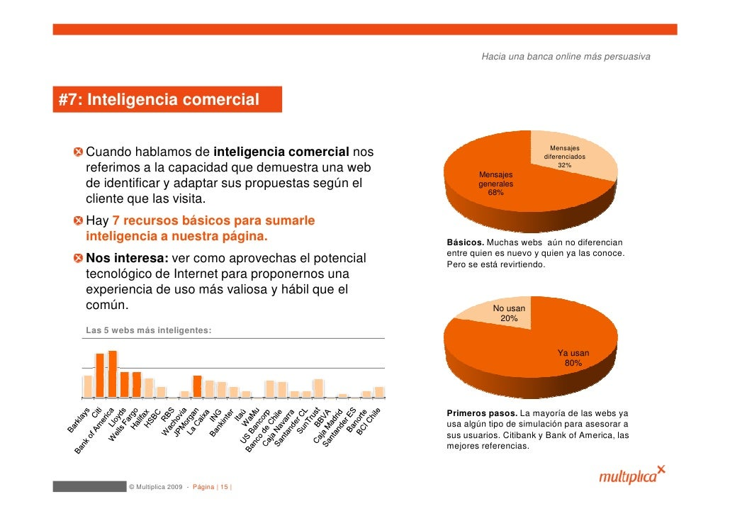 Hacia una banca online más persuasiva    #7: Inteligencia comercial                                                       ...