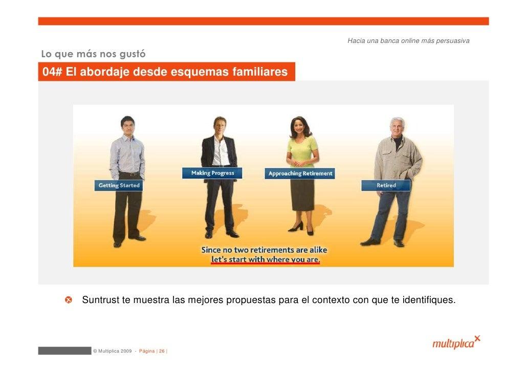Hacia una banca online más persuasiva  Lo que más nos gustó 04# El abordaje desde esquemas familiares            Suntrust ...