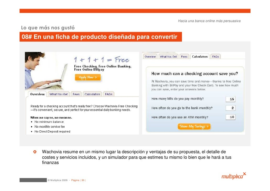 Hacia una banca online más persuasiva  Lo que más nos gustó 08# En una ficha de producto diseñada para convertir          ...