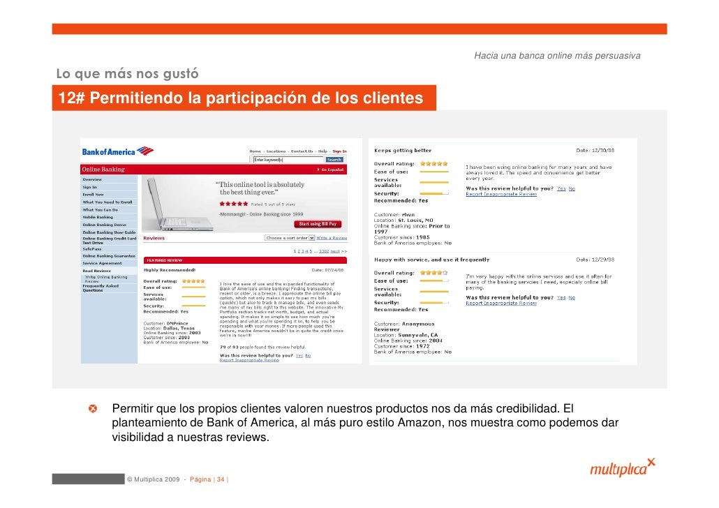 Hacia una banca online más persuasiva  Lo que más nos gustó 12# Permitiendo la participación de los clientes            Pe...