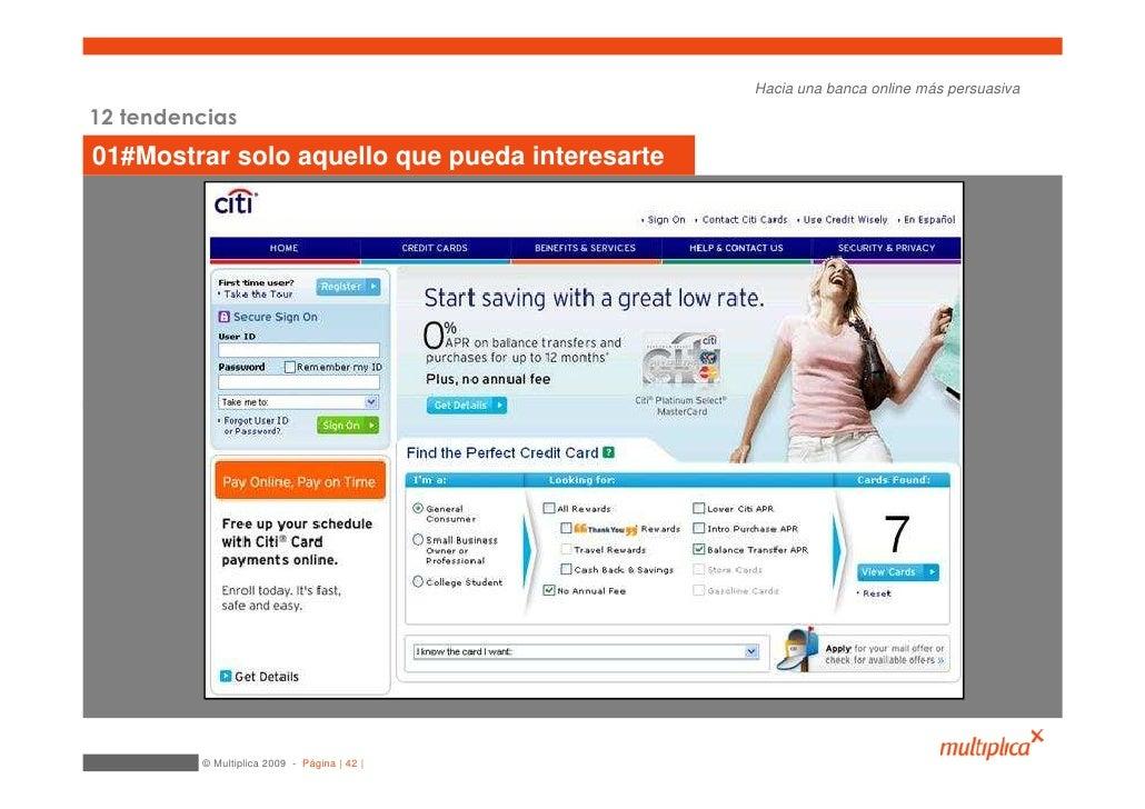 Hacia una banca online más persuasiva  12 tendencias 01#Mostrar solo aquello que pueda interesarte              © Multipli...