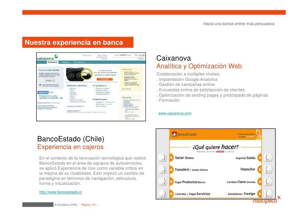 Hacia una banca online más persuasiva    Nuestra experiencia en banca                                                     ...