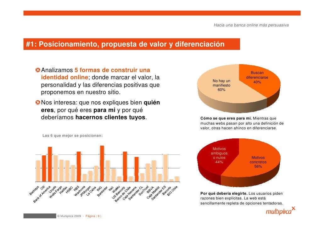 Hacia una banca online más persuasiva    #1: Posicionamiento, propuesta de valor y diferenciación       Analizamos 5 forma...