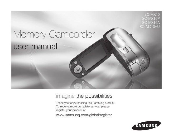 Samsung Camcorder MX10 User Manual