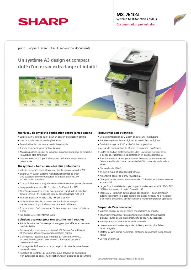 MX-2610N                                                                                                 Système Multifonc...