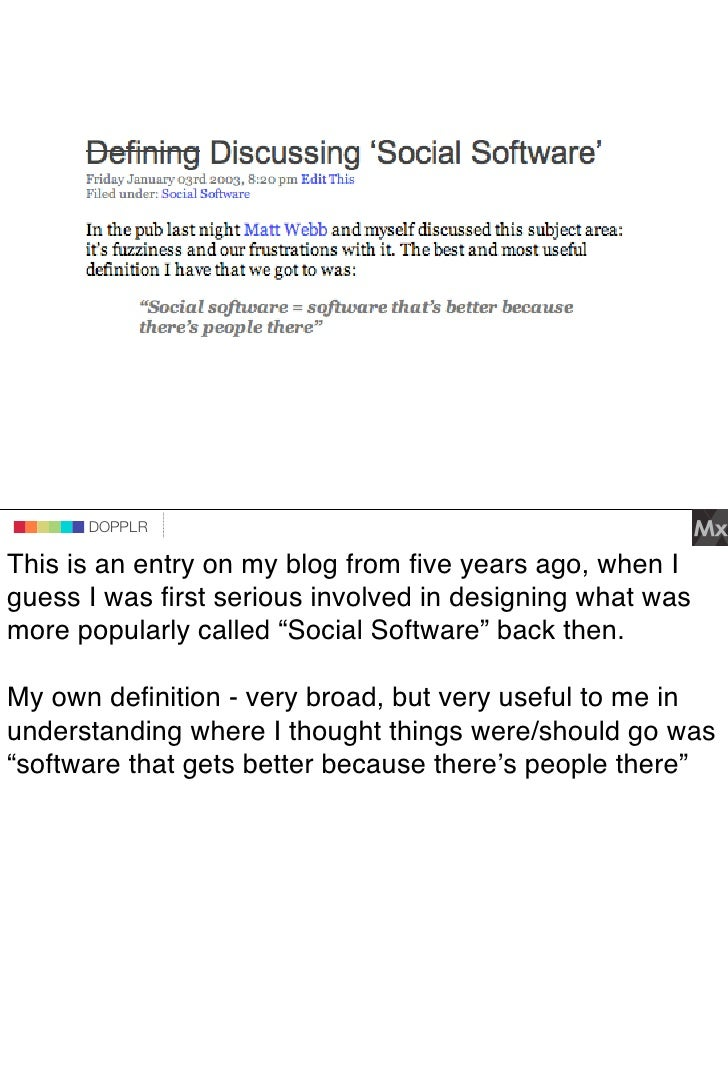 DOPPLR                DOPPLR       DOPPLR  This is an entry on my blog from five years ago, when I Where next? guess I was ...