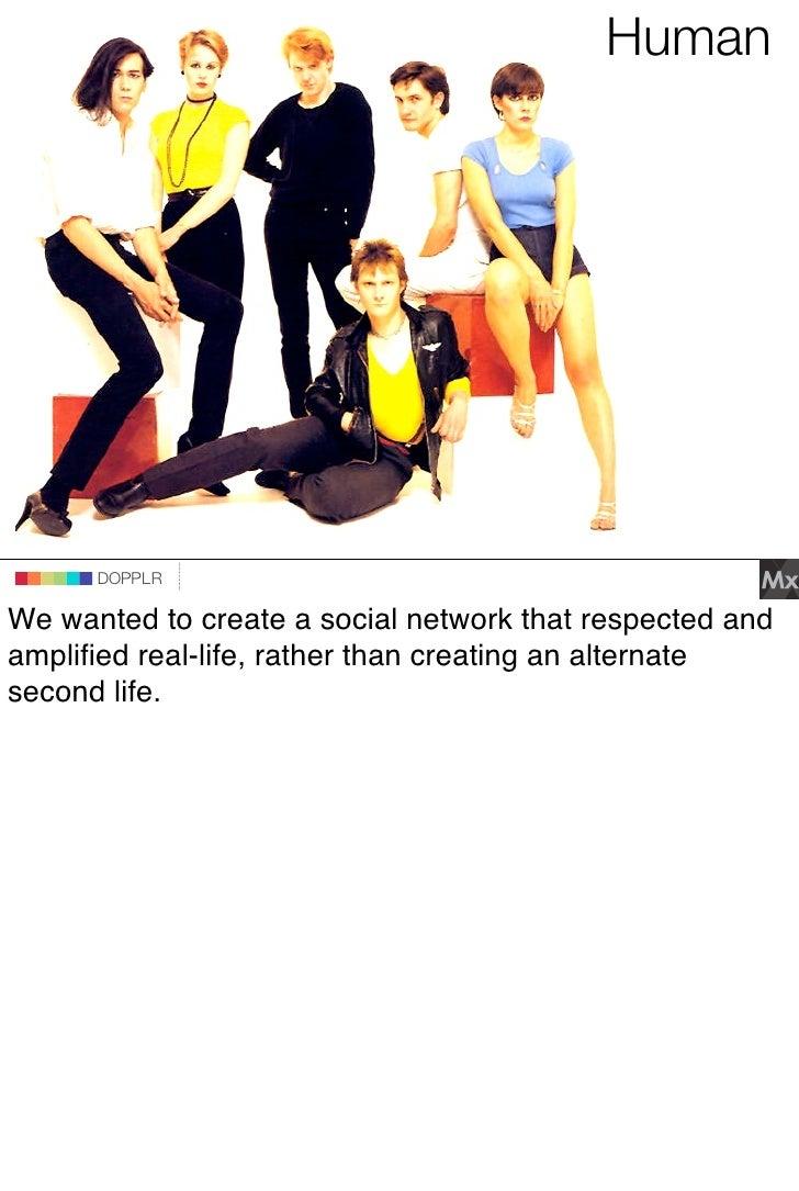 Human                                 DOPPLR                    DOPPLR           DOPPLR  We wanted to create a social netw...