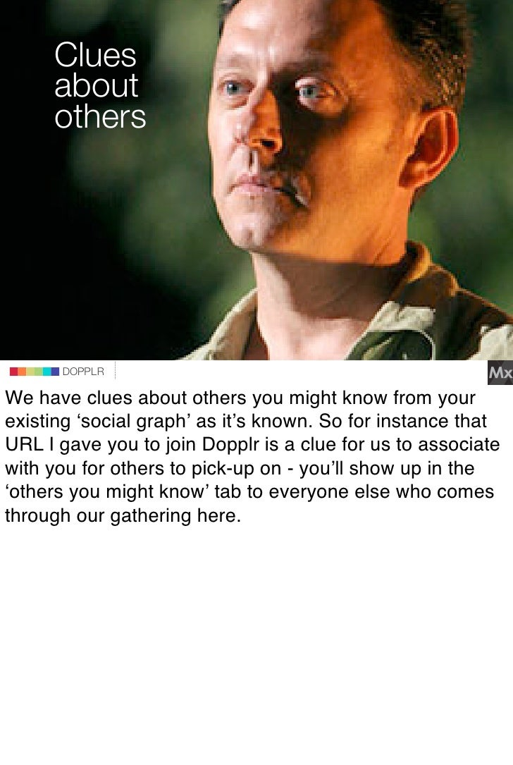 Clues      about      others                             DOPPLR                DOPPLR       DOPPLR  We have clues about ot...