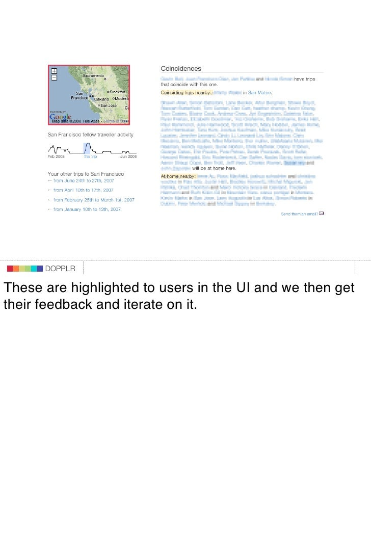 DOPPLR                    DOPPLR           DOPPLR  These are highlighted to users in the UI and we then get Where next? th...