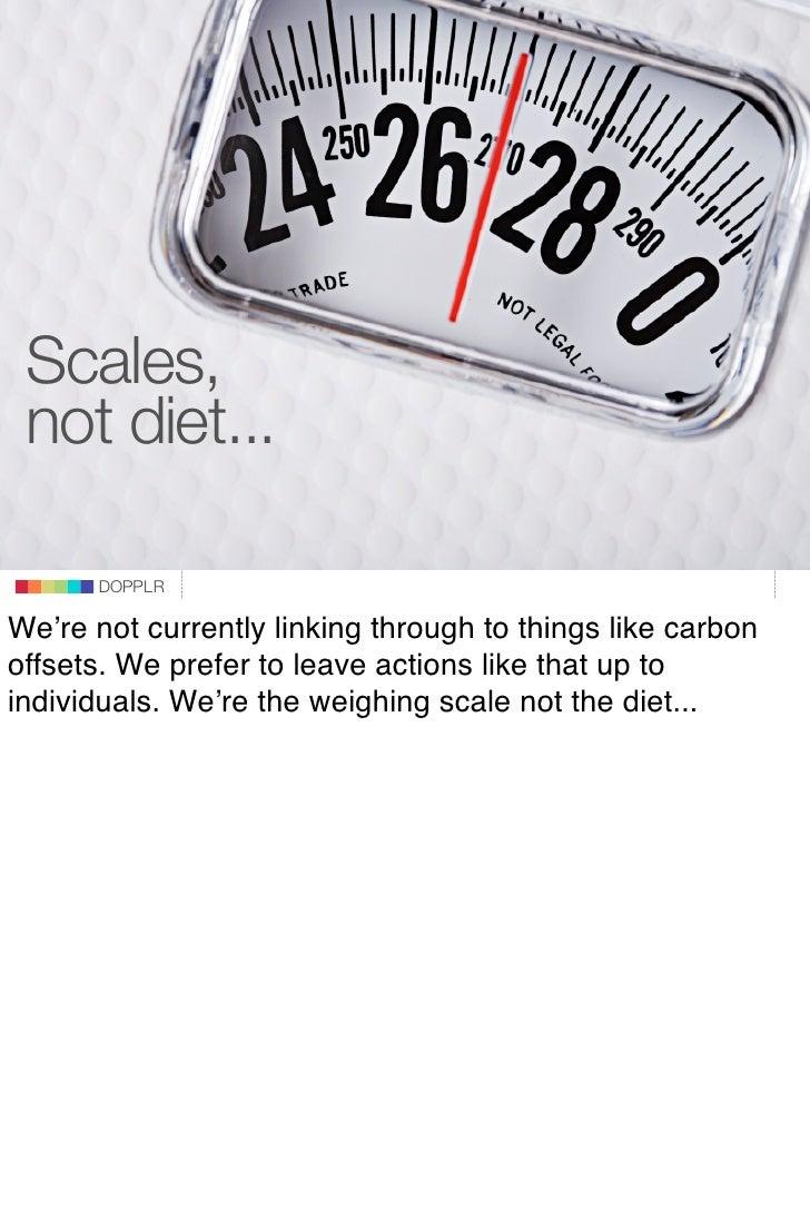 Scales,  not diet...                             DOPPLR                    DOPPLR           DOPPLR  We're not currently li...