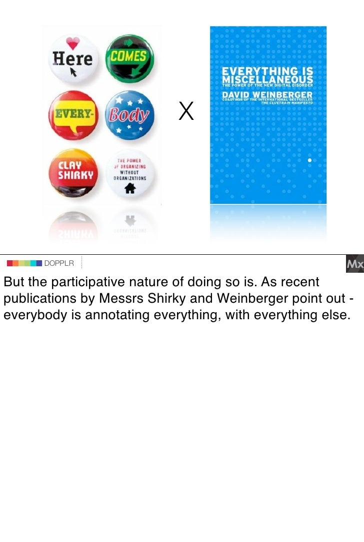 X                               DOPPLR                    DOPPLR           DOPPLR  But the participative nature of doing s...