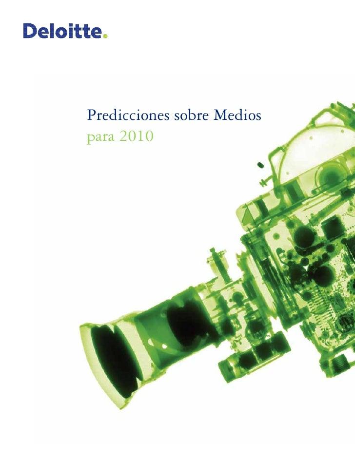 Predicciones sobre Medios para 2010