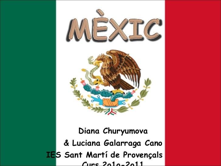 Diana  Churyumova & Luciana Galarraga Cano IES Sant Martí de Provençals  Curs 2o1o-2o11