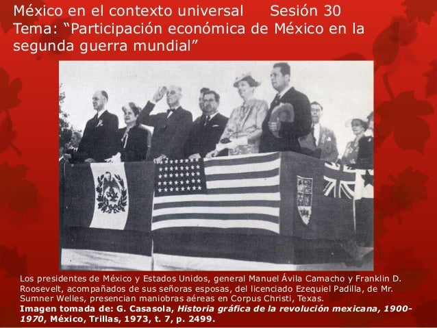 México en el contexto universal sesión 30