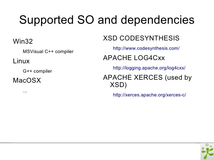 codesynthesis xsd dll Size of windows dll is 18mb said to be relatively slow  dom lv2 core,  partially dom lv3, sax 10/20, namespaces, xml schema.