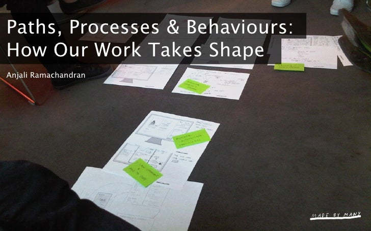 Paths, Processes & Behaviours: How Our Work Takes Shape Anjali Ramachandran