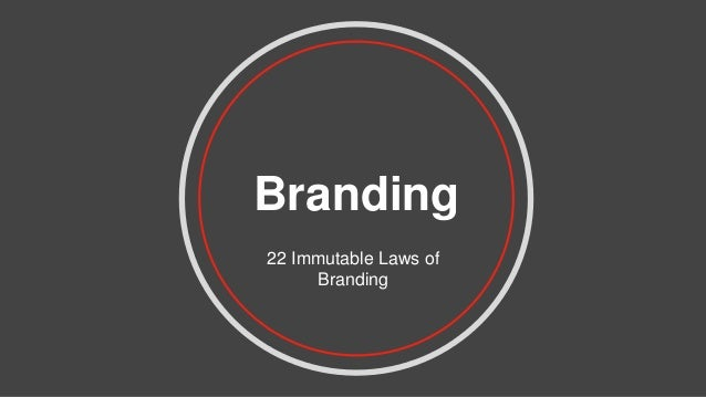 Branding 22 Immutable Laws of Branding