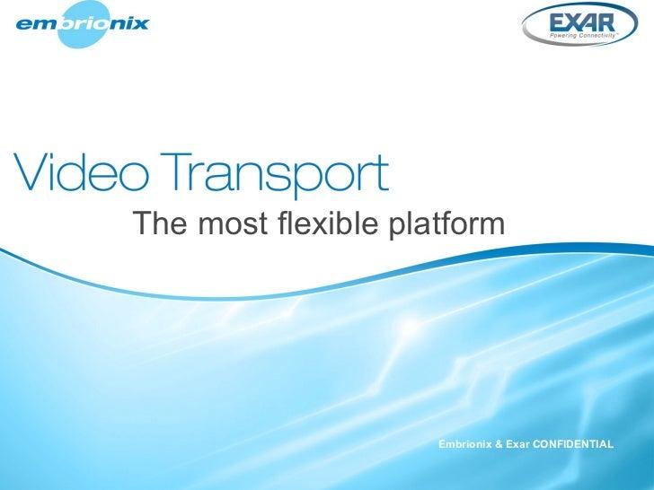 The most flexible platform Embrionix & Exar CONFIDENTIAL