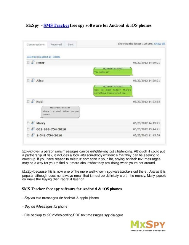 iphone sms tracker free