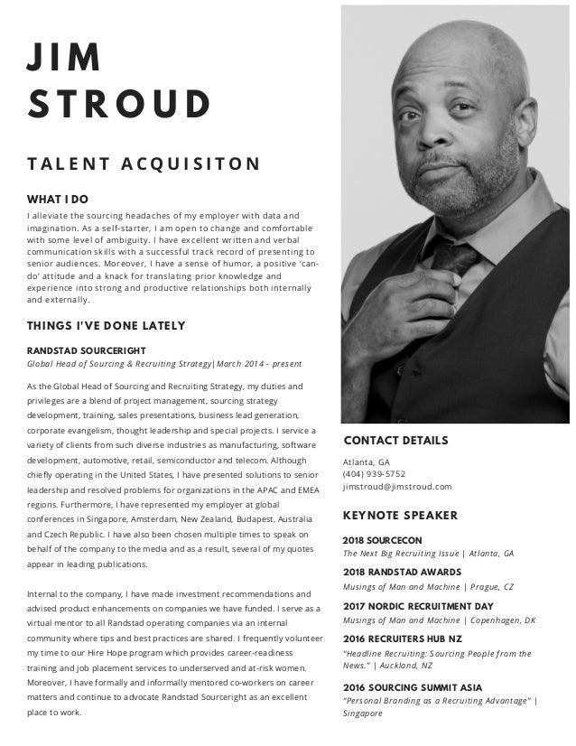 Resume of Jim Stroud (2018)
