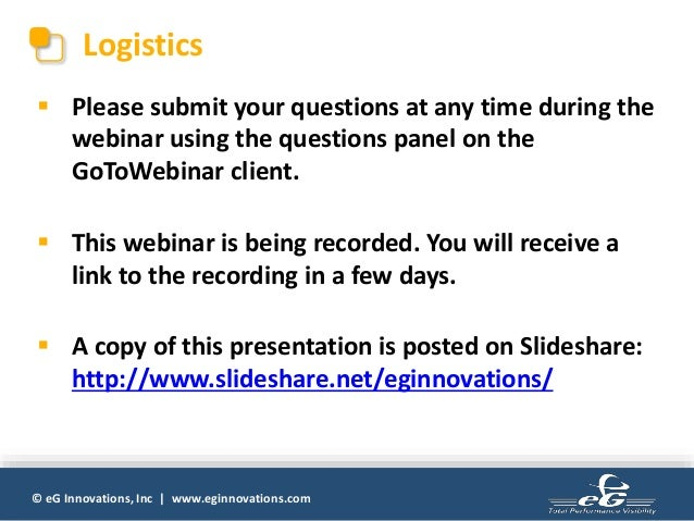 My Application is Slow | Best Practices for Troubleshooting and Prevention Slide 3