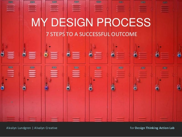 MY DESIGN PROCESS 7 STEPS TO A SUCCESSFUL OUTCOME Alvalyn Lundgren | Alvalyn Creative for Design Thinking Action Lab