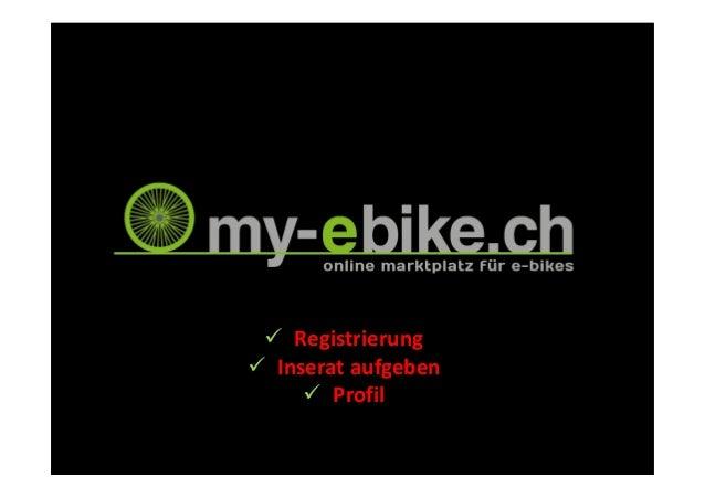 RegistrierungInserat aufgeben      Profil
