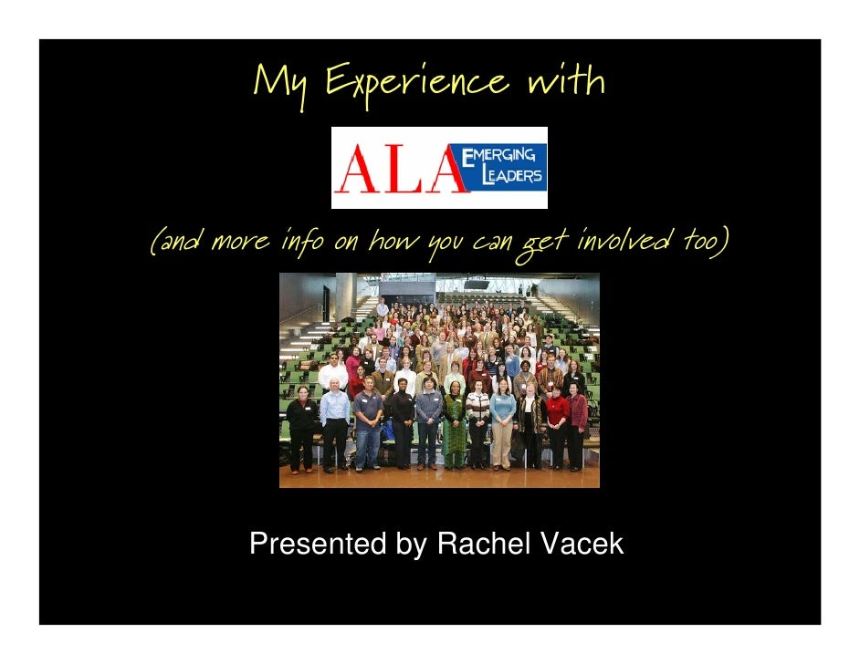 My Experience with   (and more info on how you can get involved too)             Presented by Rachel Vacek
