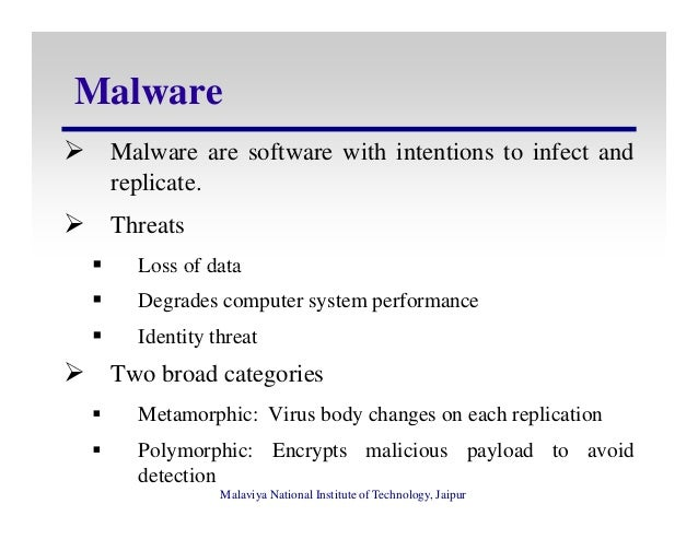 Polymorphic and Metamorphic Malware Detection