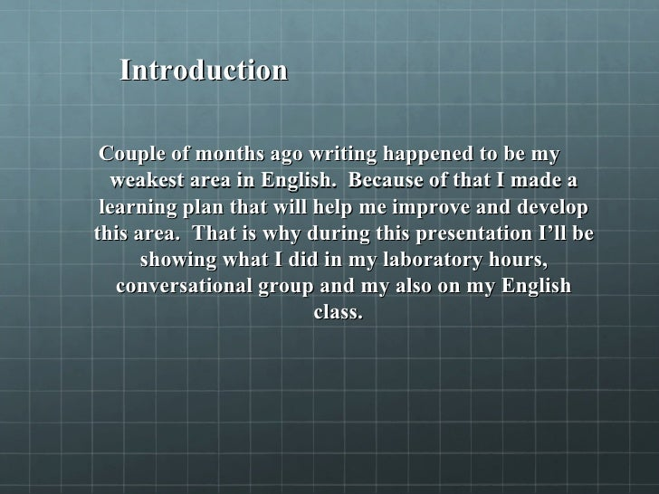 reflection on learning experience example