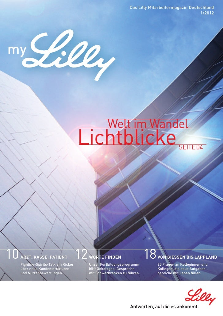 Das Lilly Mitarbeitermagazin Deutschland                                                                                  ...