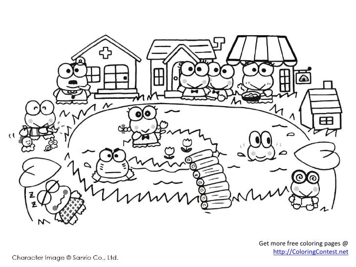 Free My Melody Keroppi Coloring Pages