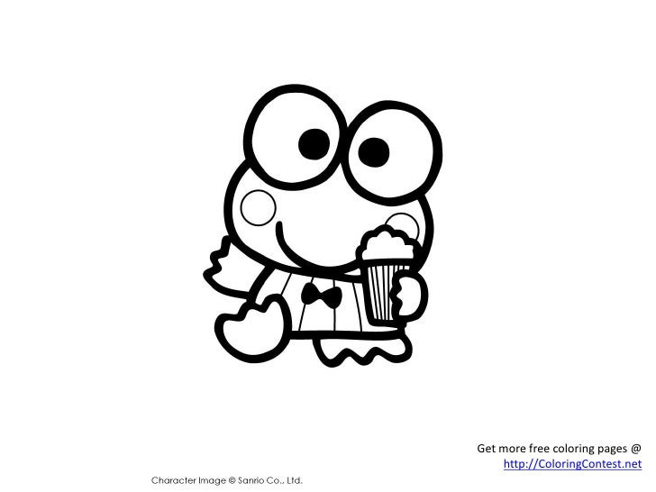 Free My Melody & Keroppi Coloring Pages