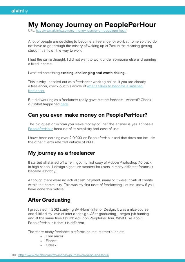 alvinhy  My Money Journey on PeoplePerHour  URL: http://www.alvinhy.com/my-money-journey-on-peopleperhour/  A lot of peopl...