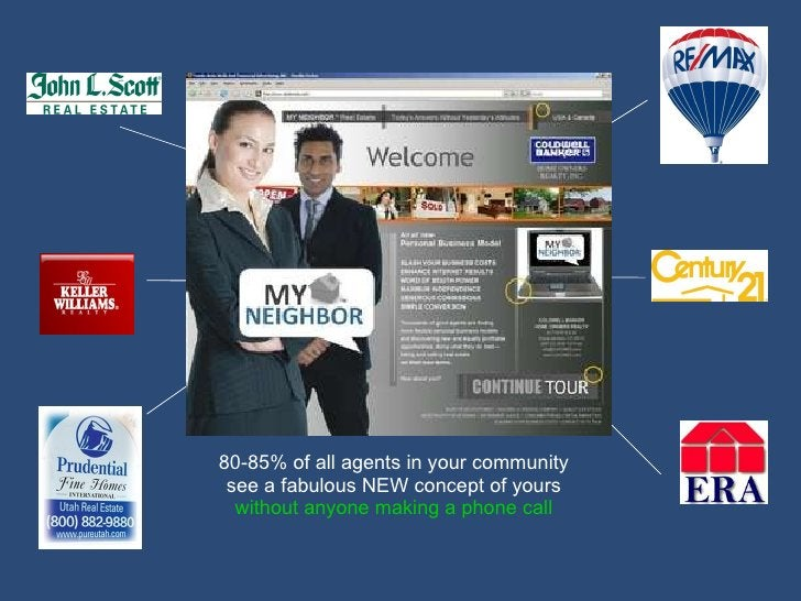Agents click to your landing page site 80-85% of all agents in your community see a fabulous NEW concept of yours  without...