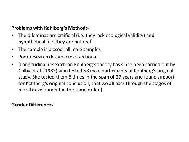 kohlberg case studies This solution explores the different types of morality, as described by kohlberg - preconventional, conventional or postconventional this is done through the use of a vignette/case study that presents a life or death situation.